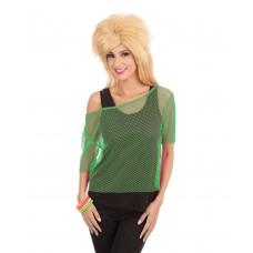80s Green Mesh Top