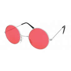 60s Style Glasses (Red)