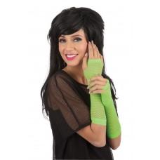 Gloves Fingerless Fishnet Green