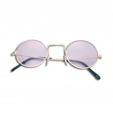 60s Style Glasses (Purple/Gold Frame)
