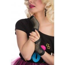Black Fishnet Gloves Short