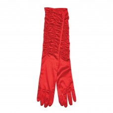 Satin Theatrical Gloves Red