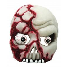 Bloody Skull Half Face Mask (Glow in Dark)