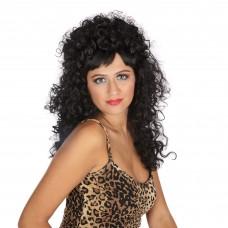 Curly Long Black Wig