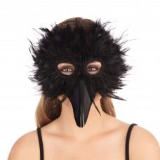 Black Bird Feather Mask