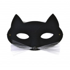 Black Cat Domino Mask