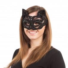 Black Cat Sequin Mask
