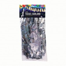 Balloon Tassels Large Silver Holographic