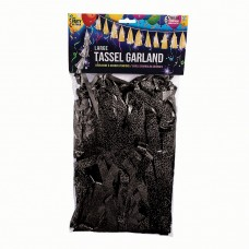 Balloon Tassels Large Black Holographic