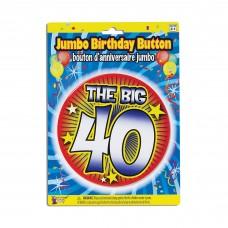 Birthday Jumbo Button Pin 40