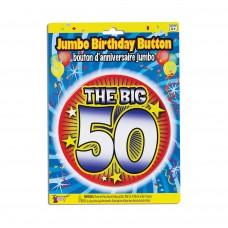 Birthday Jumbo Button Pin 50