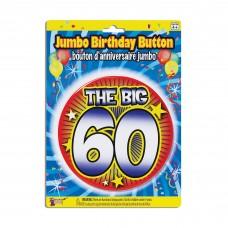 Birthday Jumbo Button Pin 60