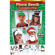 Christmas Photo Booth Kit (20 Piece Set)