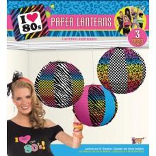 80's Party Paper Lanterns