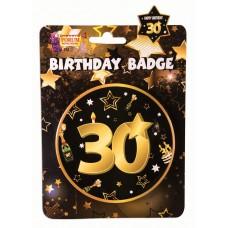 30th Birthday Badge
