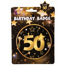 50th Birthday Badge