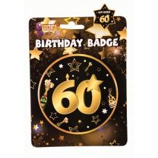60th Birthday Badge