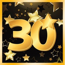 30th Birthday Napkins 13 (16 in pkt)