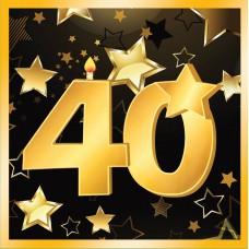 40th Birthday Napkins 13 (16 in pkt)