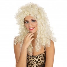 Curly Long  Blonde Wig - Box